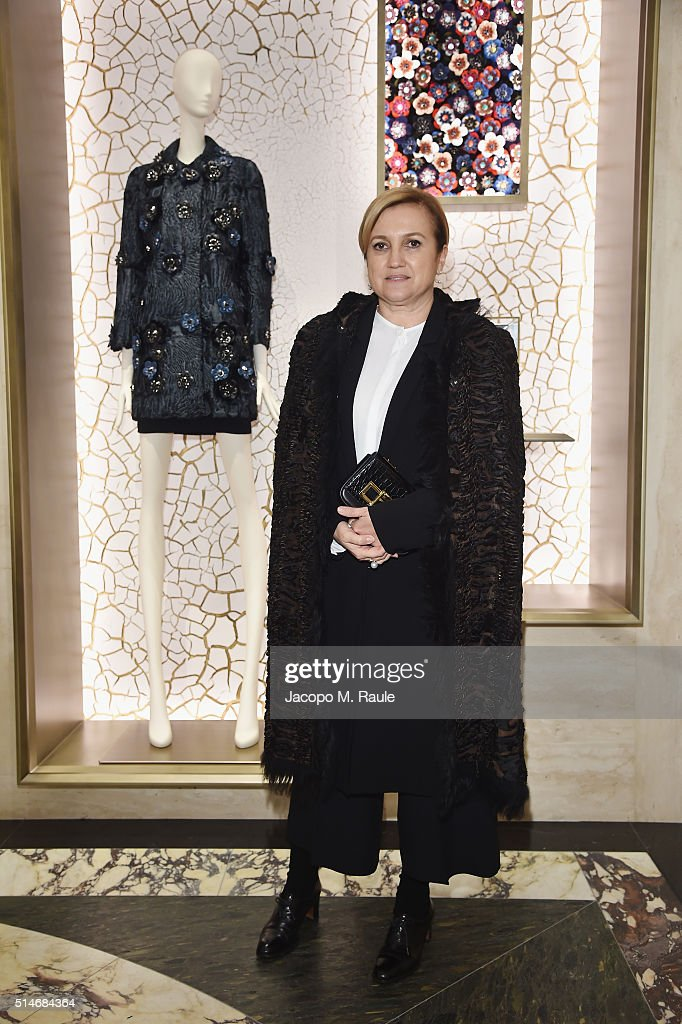 Silvia Venturini Fendi attends Palazzo FENDI And ZUMA Inauguration on March 10, 2016 in Rome, Italy.