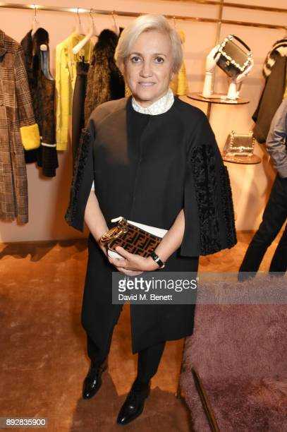 Silvia Venturini Fendi attends the FENDI Sloane Street boutique opening on December 14, 2017 in London, England.
