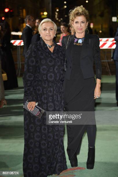 Silvia Venturini Fendi attends the Green Carpet Fashion Awards Italia 2017 during Milan Fashion Week Spring/Summer 2018 on September 24, 2017 in...