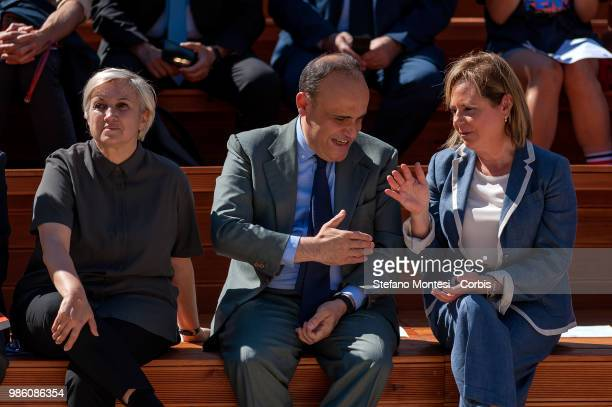 Silvia Venturini Fendi President of Altaroma Alberto Bonisoli Minister for Cultural Heritage and Activities and Tourism and Alfonsina Russo Director...