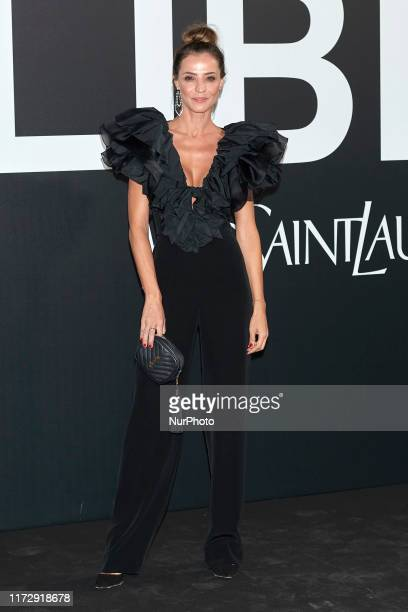 Silvia Zamora attends the Yves Saint Laurent 'Libre' fragrance presentation at Real Fabrica de Tapicez in Madrid Spain on Sep 30 2019