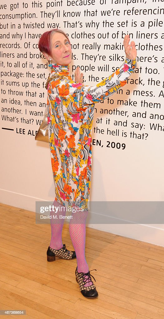 Silvia Ziranek attends a private view of 'Nick Waplington/Alexander McQueen: Working Progress' at the Tate Britain on March 23, 2015 in London, England.