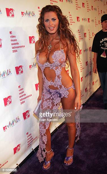Silvina Luna arrives at the 2004 MTV Video Music Awards Latin America at the Jackie Gleason Theater October 21 2004 in Miami Beach Florida
