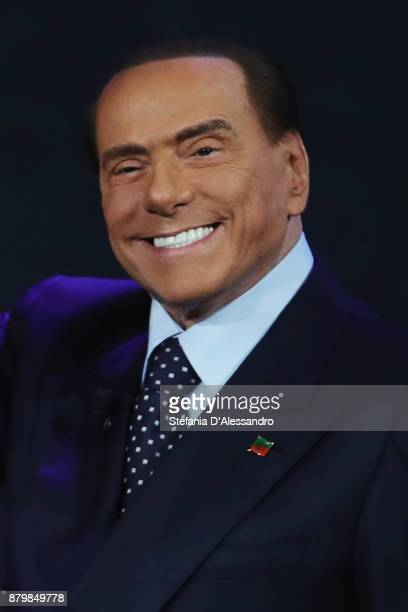 Silvio Berlusconi attends 'Che Tempo Che Fa' Tv Show on November 26 2017 in Milan Italy