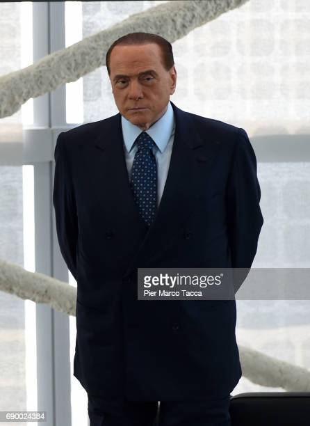 Silvio Berlusconi attends Rosa Camuna awards at Palazzo Lombardia on May 30 2017 in Milan Italy