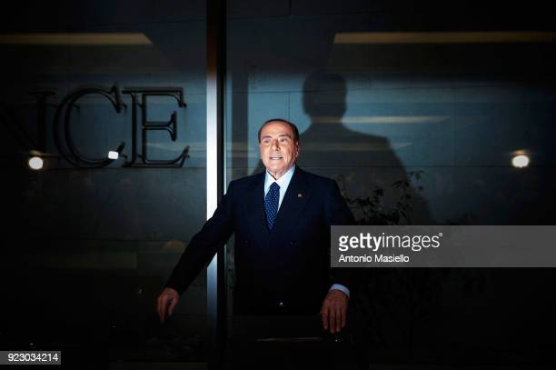 Silvio Berlusconi Forza Italia leader takes part at the meeting with the ANCE to talk about the upcoming general election on February 22 2018 in Rome...