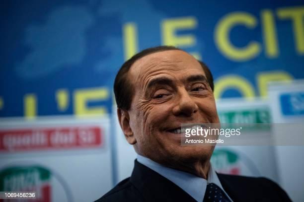 """Silvio Berlusconi, Forza Italia leader, takes part at the political meeting, """"Le città, lItalia e lEuropa che vogliamo"""" organized by Forza Italia..."""