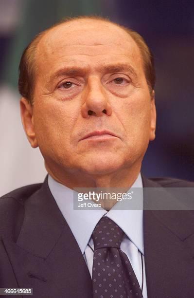 Silvio Berlusconi Italian PM Prime Minister in Brussels