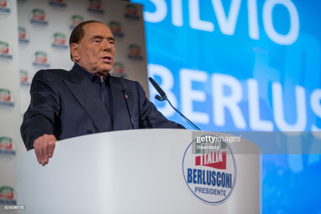 Forza Italia Party Leader Silvio Berlusconi Campaigns Ahead Of The General Election