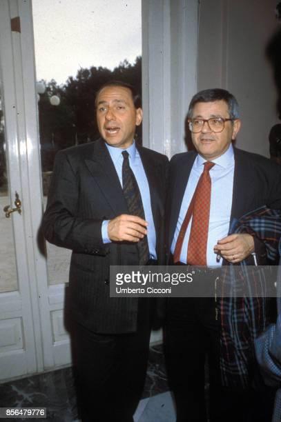 Silvio Berlusconi with Vincenzo Balsamo during 44th National Congress of Italian Socialist party PSI in Rimini
