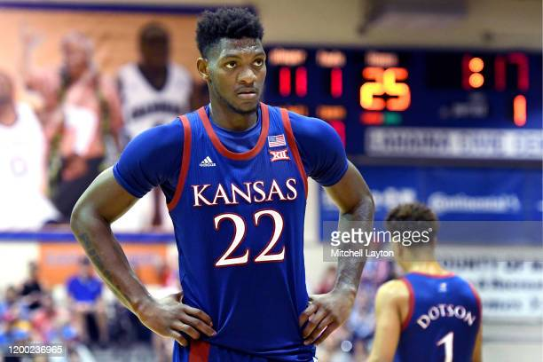 Silvio De Sousa of the Kansas Jayhawks looks on during a first round Maui Invitation game against the Chaminade Silverswords at the Lahaina Civic...