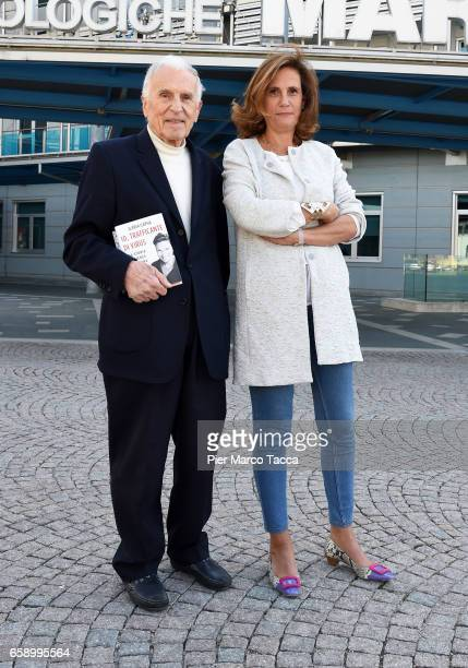 Silvio Garattini and Ilaria Capua attend a 'Io, Trafficante Di Virus. Una Storia Di Scienza E Di Amara Giustizia' book presentation on March 28, 2017...