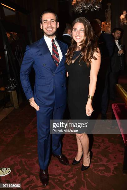 Silvio Gutierrez and Lauren Opaciuch attend Christopher R King Debuts New Luxury Brand CCCXXXIII at Baccarat Hotel on June 5 2018 in New York City