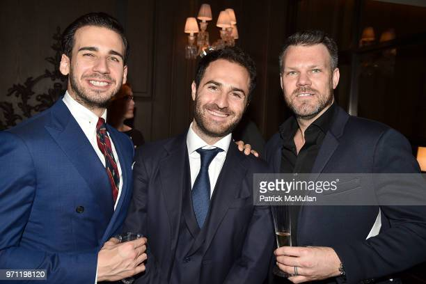 Silvio Gutierrez Philippe Vasilescu and Daniel Belair attend Christopher R King Debuts New Luxury Brand CCCXXXIII at Baccarat Hotel on June 5 2018 in...