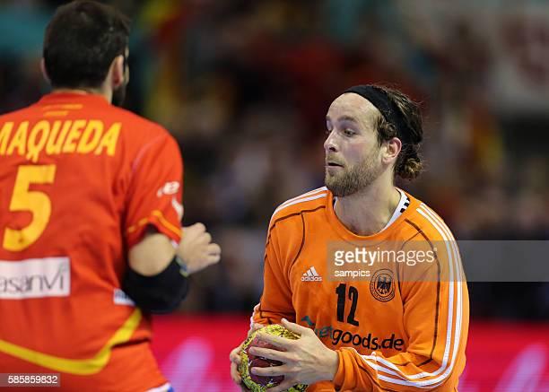 Silvio Heinevetter , Jorge MAQUEDA Handball Männer Weltmeisterschaft Viertelfinale : Spanien - Deutschland mens ihf handball worldchampionchip...