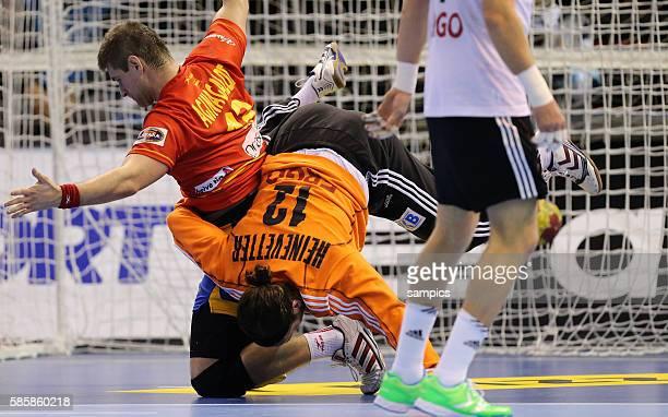 Silvio Heinevetter , Julen AQUINAGALDE Handball Männer Weltmeisterschaft Viertelfinale : Spanien - Deutschland mens ihf handball worldchampionchip...