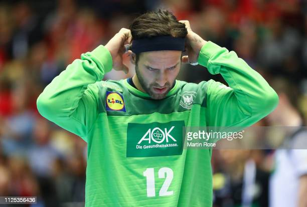 Silvio Heinevetter of Germany looks dejected during the 26th IHF Men's World Championship 3rd place match between Germany and France at Jyske Bank...