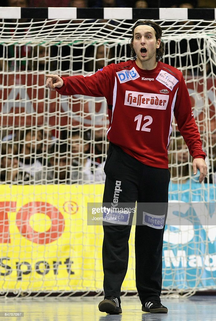 Silvio Heinevetter of Magdeburg is seen during the Toyota Handball Bundesliga match between SC Magdeburg and THW Kiel at the Boerdeland hall on February 10, 2009 in Magdeburg, Germany.