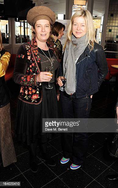 Silvy Weatherall and Lady Helen Taylor attend the Maggie's Barts fundraising luncheon at Le Cafe Anglais on March 19 2013 in London England