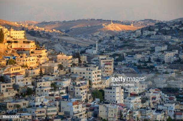 silwan, on the outskirts of jerusalem - palestinian stock photos and pictures