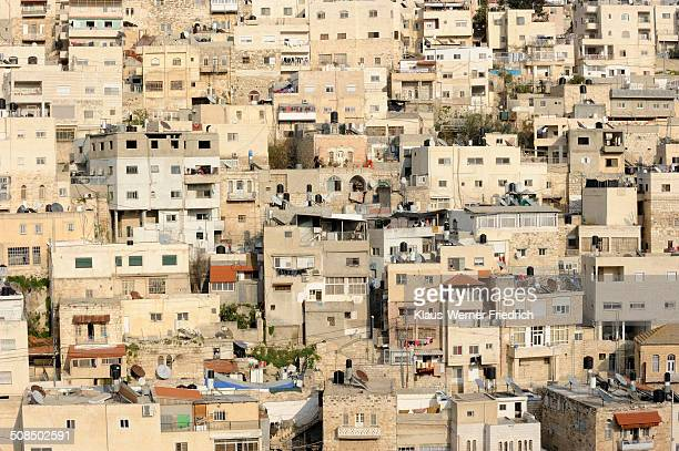 Silwan, Palestinian suburb outside the Old City on the other side of the Kidron Valley, Jerusalem, Israel, Middle East
