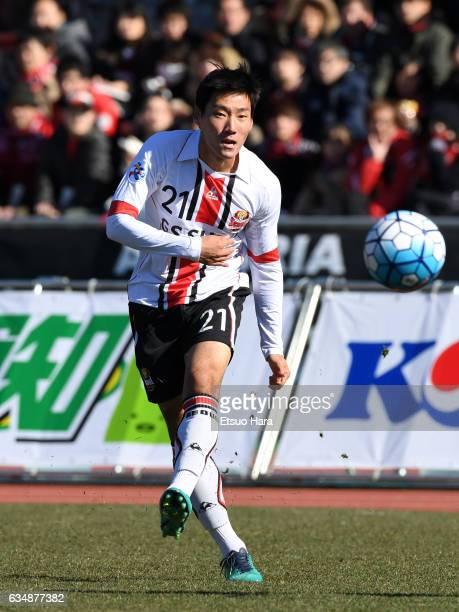 Sim Sang Min of FC Seoul in action during the preseason friendly between Urawa Red Diamonds and FC Seoul at Urawa Komaba Stadium on February 12, 2017...