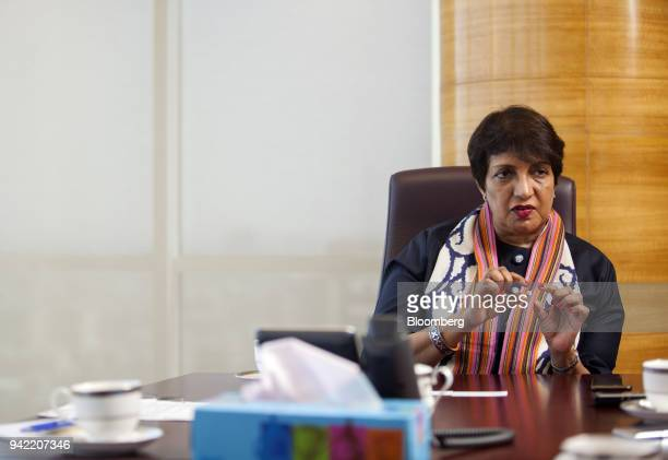Sima Kamil chief executive officer of United Bank Ltd speaks during an interview in Karachi Pakistan on Wednesday April 4 2018 Pakistans...