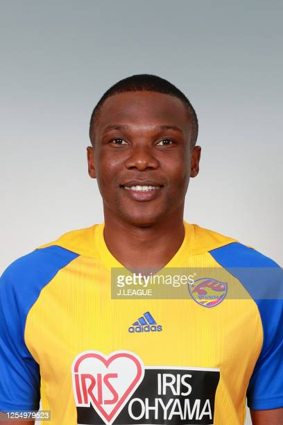 Simao Mate poses for photographs during the Vegalta Sendai portrait session on January 9, 2020 in Japan.