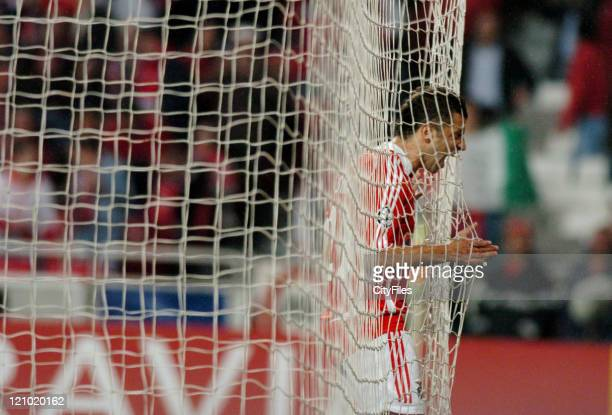 Simao of Benfica during the UEFA Champions Leage Group F SL Benfica vs FC Copenhagen at Luz Stadium in Lisbon Portugal on November 21 2006