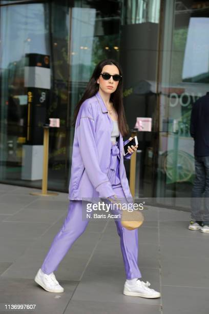 Simay Yilmaz attends the House Of Ogan show during MercedesBenz Fashion Week Istanbul March 2019 at Zorlu Center on March 20 2019 in Istanbul Turkey
