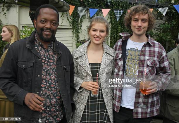 Simba Chirandu Molly Smith and Josh Whitehouse attend the VIP London launch of the Barbour by ALEXACHUNG collection at The Albion on June 20 2019 in...