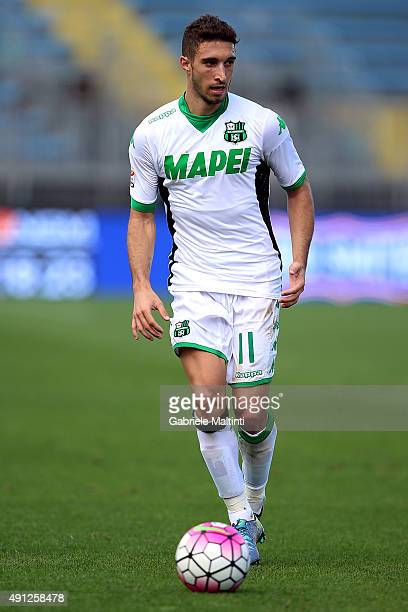 Sime Vrasljko of US Sassuolo Calcio in action during the Serie A match between Empoli FC and US Sassuolo Calcio at Stadio Carlo Castellani on October...