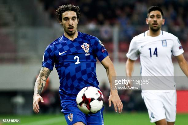 Sime Vrsaljkio of Croatia in action during the World Cup Russia 2018 European Qualifiers match between Greece and Croatia in Piraeus near Athens...