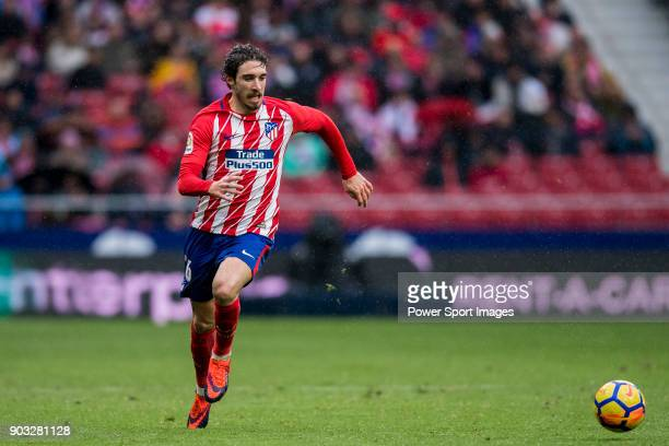 Sime Vrsaljko of Atletico de Madrid in action during the La Liga 201718 match between Atletico de Madrid and Getafe CF at Wanda Metropolitano on...
