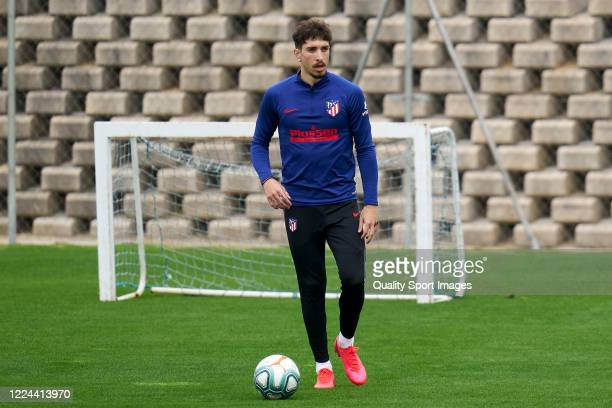 Sime Vrsaljko of Atletico de Madrid looks on during a training session at Estadio Cerro del Espino on May 12 2020 in Madrid Spain
