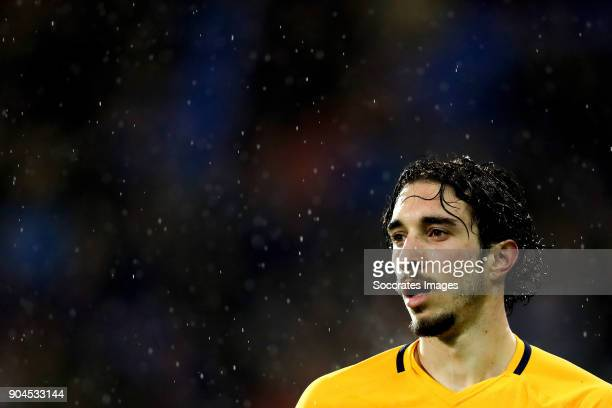 Sime Vrsaljko of Atletico Madrid during the La Liga Santander match between Eibar v Atletico Madrid at the Estadio Municipal de Ipurua on January 13...