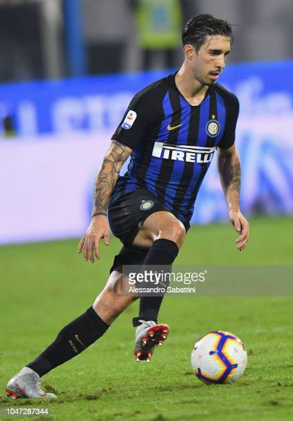 Sime Vrsaljko of FC Internazionale in action during the Serie A match between SPAL and FC Internazionale at Stadio Paolo Mazza on October 7 2018 in...