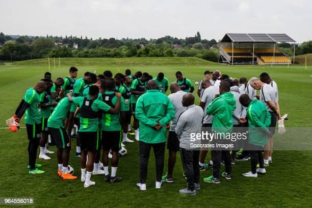 Simeon Nwankwo of Nigeria Daniel Akpeyi of Nigeria Ola Aina of Nigeria Elderson Echiejile of Nigeria Kenneth Omeruo of Nigeria William Troost Ekong...