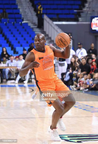 Simeon Rice attends 50K Charity Challenge Celebrity Basketball Game at UCLA's Pauley Pavilion on July 17 2018 in Westwood California