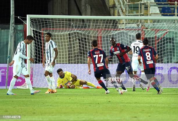 Simeon Tochukwu Nwankwo Simy of Fc Crotone celebrate the goal during the Serie A match between Fc Crotone and Juventus Fc on October 17 2020 stadium...
