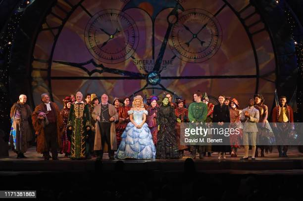 Simeon Truby Kim Ismay Andy Hockley Helen Woolf Nikki Bentley Alistair Brammer and Natasha Ferguson bow at the curtain call as hit musical Wicked...
