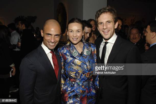 Simeone Scaramozzino Beata Bohman and Gregoire Vogelsang attend CHRISTIE'S The Green Auction A Bid To Save The Earth at Christie's 20 Rockefeller on...