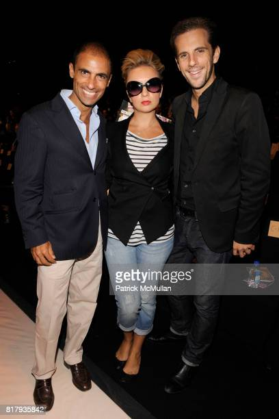 Simeone Scaramozzino Kristina Alexandra Kovalyuk and Gregoire Vogelsang attend ANNA SUI Spring 2011 Fashion Show at The Theatre at Lincoln Center on...