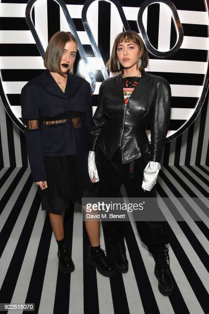 Simi and Haze Khadra attend the Brits Awards 2018 After Party hosted by Warner Music Group Ciroc and British GQ at Freemasons Hall on February 21...