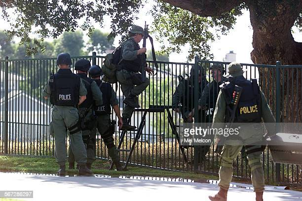 Simi Valley SWAT leave scene at conclusion of successful arrest of William Skidmore at his home on Cowboy Ct in Simi Valley Skidmore is a suspect in...