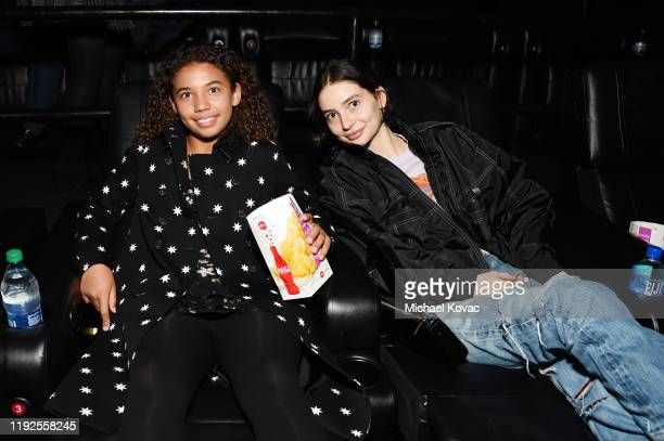 Similce Diesel and Meadow Walker attend Fast Furious Spy Racers World Premiere at Universal CityWalk on December 07 2019 in Universal City California