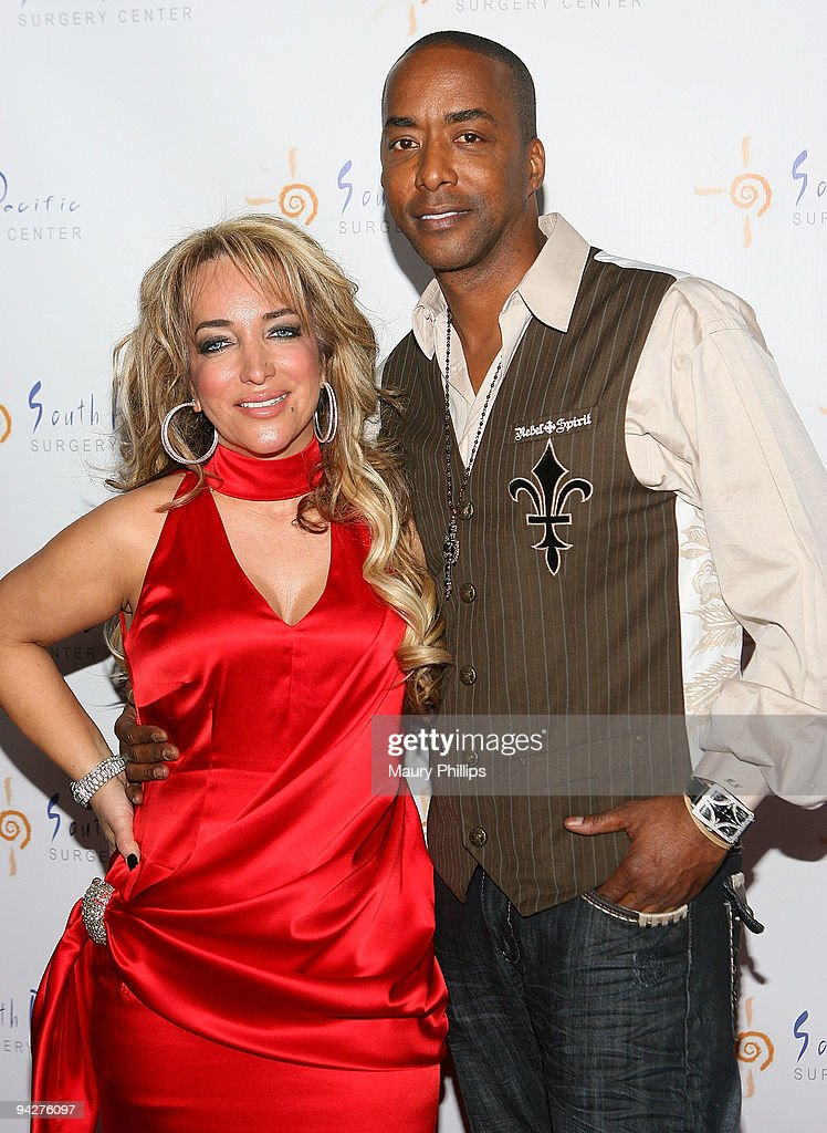 Simine Hashemizdeh and actor Miguel Nunez arrive at Simine Hashemizdeh's Holiday Red Carpet Event To Benefit M Benga Foundation on December 10, 2009 in Hollywood, California.