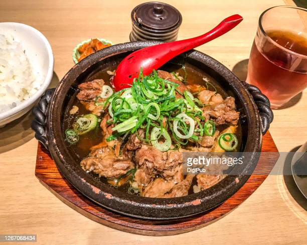 simmered beef tendon teishoku - tendon stock pictures, royalty-free photos & images