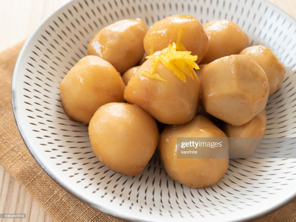 Simmered Taro : Stock Photo