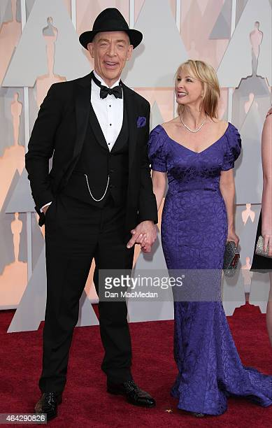 JK Simmons and Michelle Schumacher arrive at the 87th Annual Academy Awards at Hollywood Highland Center on February 22 2015 in Los Angeles California